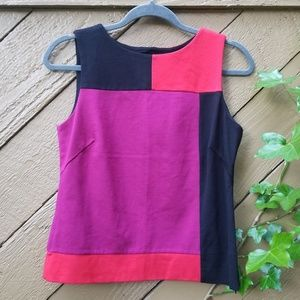 Ruby Rd. Color Block high neck black red pink Tank